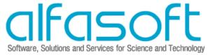 Alfasoft Logo with slogan
