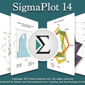 SigmaPlot 14 Logo and Graphs
