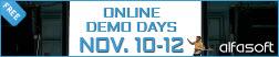 Alfasoft Online Demo Days 2021 Autumn